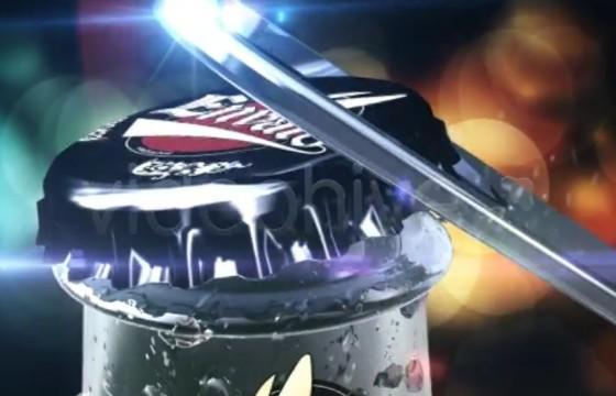 AE模板 啤酒饮料 开瓶动画宣传广告片头 Beer Commercial