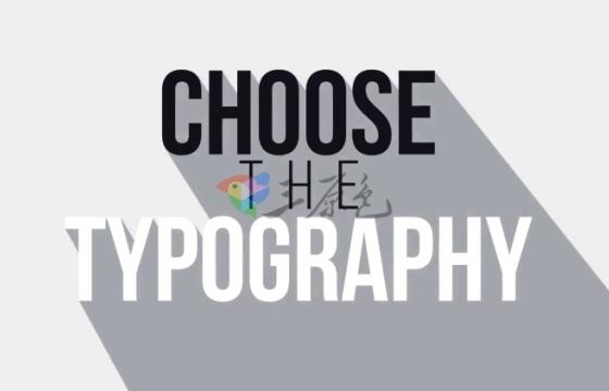 AE模板 扁平化长投影文字标题排版动画 Big Typography Pack