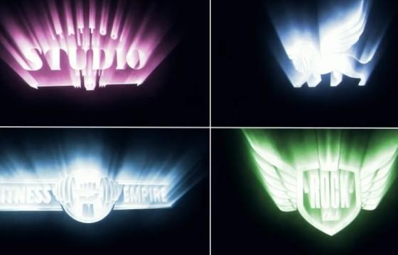 AE模板 电影标题LOGO射线光线片头 Cinematic Light Rays Logo
