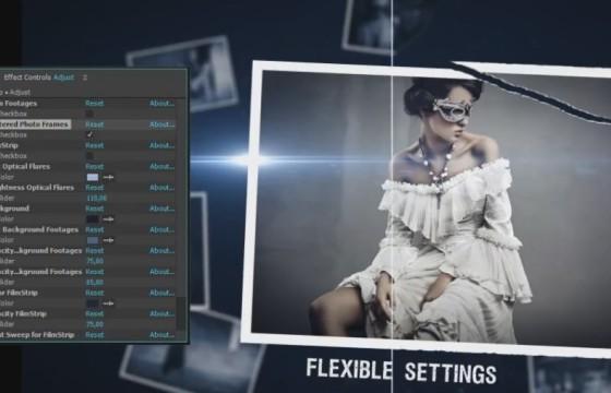 AE模板 电影风格三维照片幻灯片模板 Cinematic Style