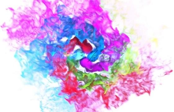 AE模板 彩色粒子颜色漩涡Logo片头 Colors of Particles Swirls Ident