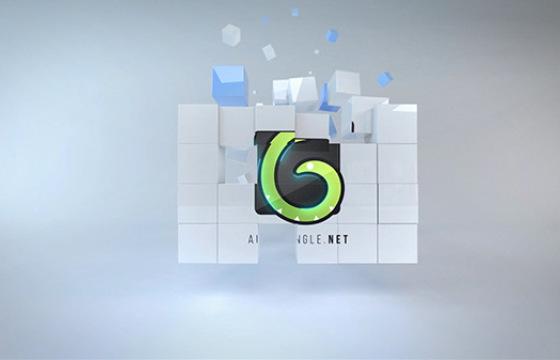 AE模板 多维数据方块集标志展示 Corporate Cubes Logo Reveal