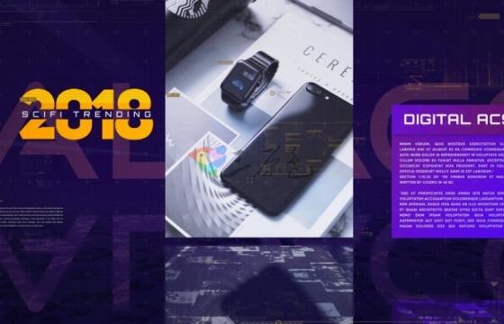 AE模板-大数据科技信息产品介绍说明幻灯片 Digital Access