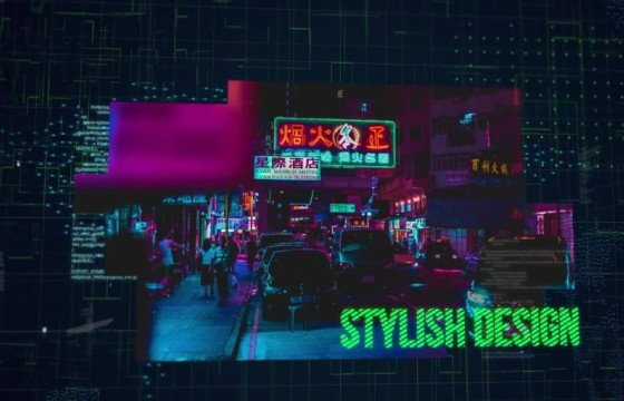 AE模板 三维视差空间HUD数字幻灯片相册 Digital Slideshow