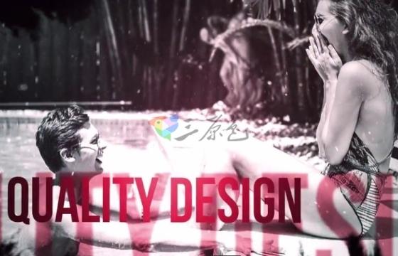 AE模板 创意视频相册文字标题模板幻灯片 Dramatic Slideshow