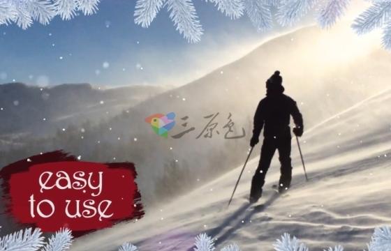 AE模板 圣诞节图文动态幻灯片 Dynamic Christmas Slideshow