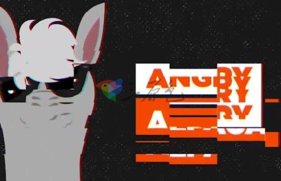 AE模板:动态画面损坏干扰Logo标志展示 Dynamic Logo Intro