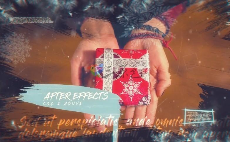 AE模板-优雅的圣诞照片幻灯片文字动画 Elegant Christmas Slideshow Ae 模板-第1张