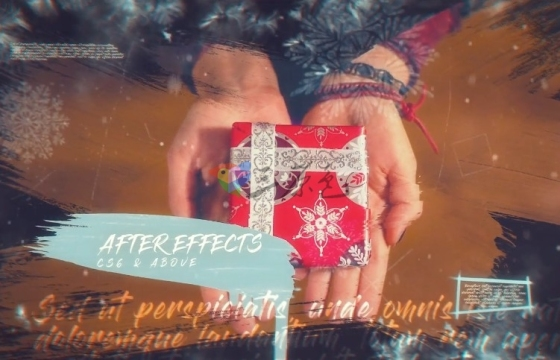 AE模板-优雅的圣诞照片幻灯片文字动画 Elegant Christmas Slideshow