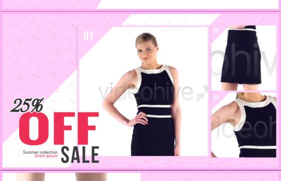 AE模板 时尚时装商品宣传广告包装动画 Fashion Sale