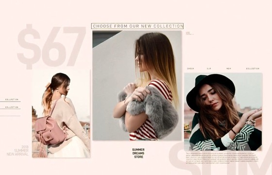 AE模板 应季衣服时装店动态促销广告宣传 Fashion Shop