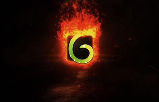 AE模板 燃烧火焰特效LOGO标志片头展示 Fire Logo Reveal