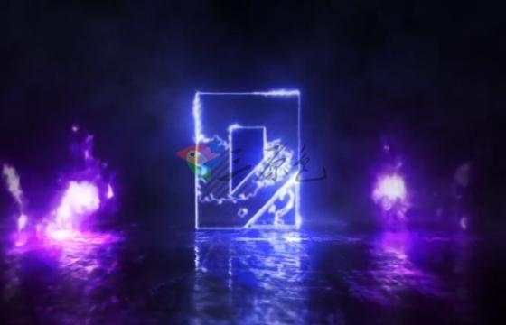 AE模板 火焰描边特效文字Logo标志片头 Fire Logo