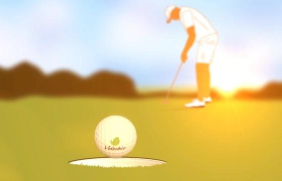 AE模板 创意高尔夫进洞Logo标志动画模板 Golf Logo
