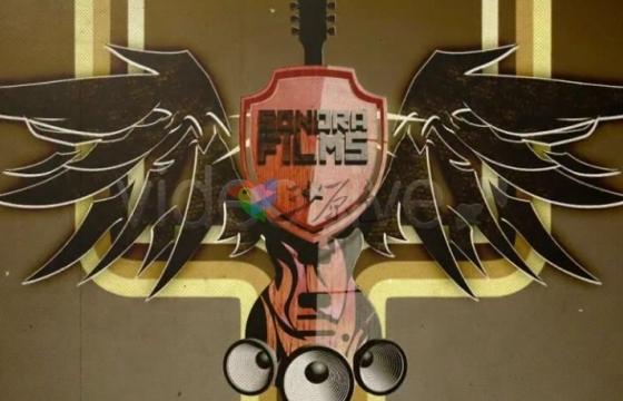 AE模板 复古音乐吉他元素宣传片头 Grunge promo