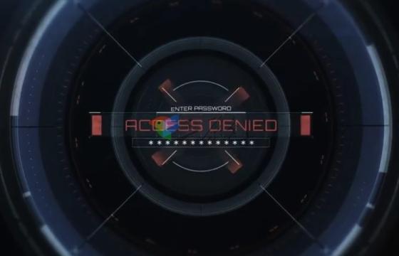 AE模板 HUD元素Logo文字标题展示片头 Access Logo Reveal