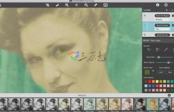 PS插件 暗房黑白 手绘水墨画效果插件 JixiPix Hand Tint Pro v1.0.7