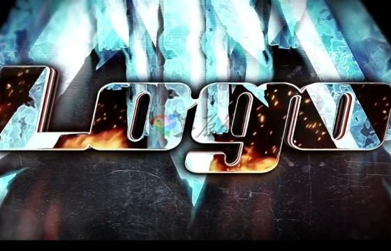 AE模板 冰火遮罩文字Logo标志显示特效片头  Ice Fire Ae
