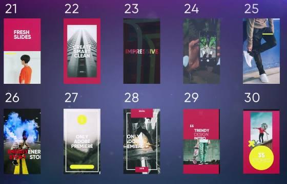 竖屏Pr模板 手机短视频广告宣传促销展示 Instagram Stories