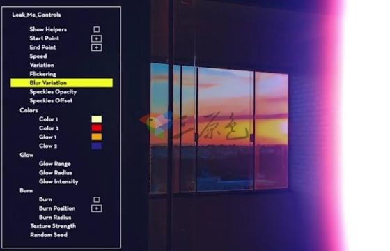 AE Pr模板预设 视频镜头炫光效果漏光特效预设模板 Leak Preset