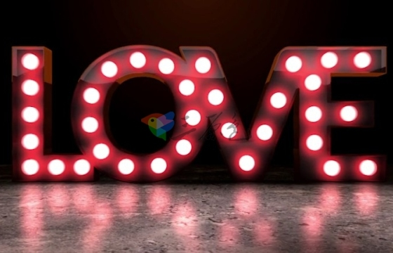 AE模板 复古酒吧电灯泡Logo标题片头 Light Bulb Sign