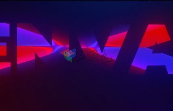 AE模板 彩色霓虹发光文字效果片头 Videohive Logo Light