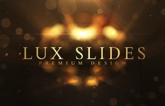 AE模板 浪漫唯美金色婚纱照写真相册幻灯片 Lux Slides