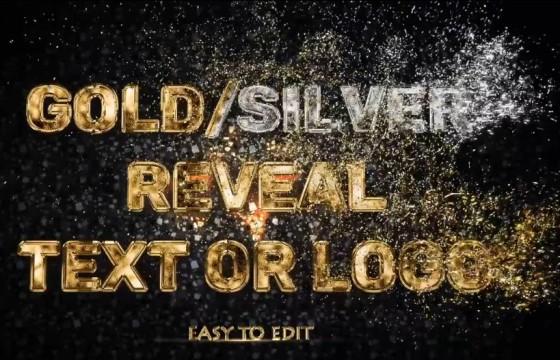 AE模板 文字Logo标志金色粒子消散特效 Videohive Luxury
