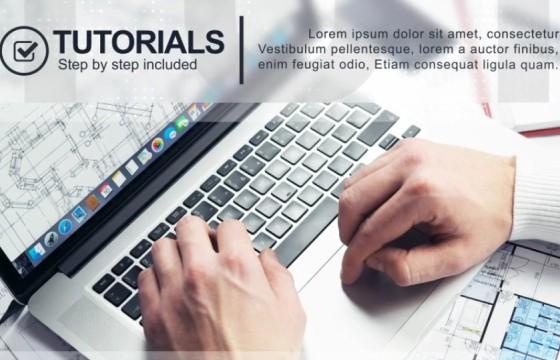 AE模板 公司企业会议产品介绍 Minimal Corporate Presentation