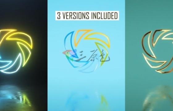 AE模板 3种样式的Logo标志展示片头 Minimal Logo Pack