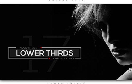 AE模板 时尚人名字幕条动画 Modern Lower Thirds Pack