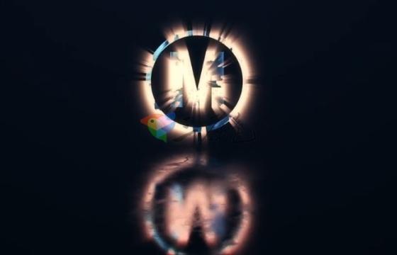 AE模板 4K发光破碎文字标题Logo效果 Modern Shiny Logo