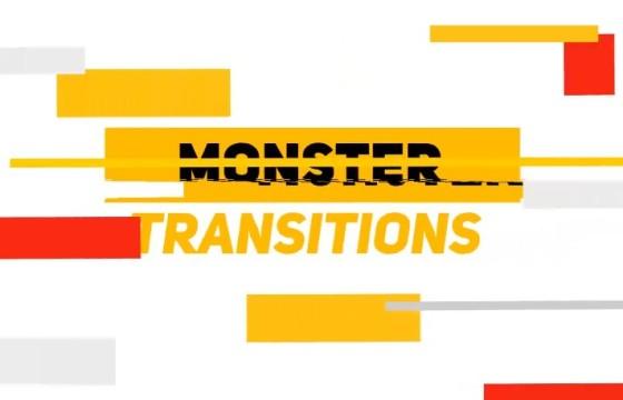 AE模板 MG卡通图形动画转场过渡效果 Monster Transitions