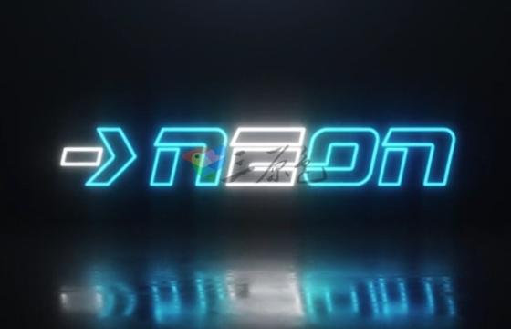 AE模板 复古霓虹灯标志逐个点亮效果 Videohive Neon Logo