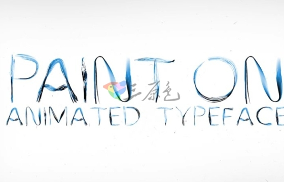 AE模板 绘画手写文字路径动画效果 Paint On Animated Typeface