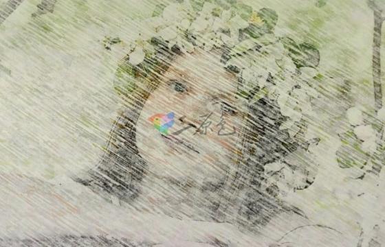 AE模板 工笔画铅笔素描效果视频相片模板 Pencil Drawing