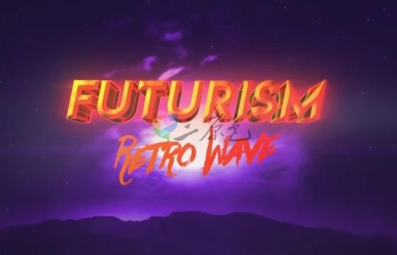 AE模板 文字LOGO光线描边特效电影片头 Retro Futurism Intro