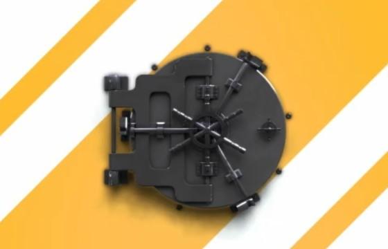 AE模板 保险库安全锁LOGO徽标显示片头 Safe Unlock Logo Reveal