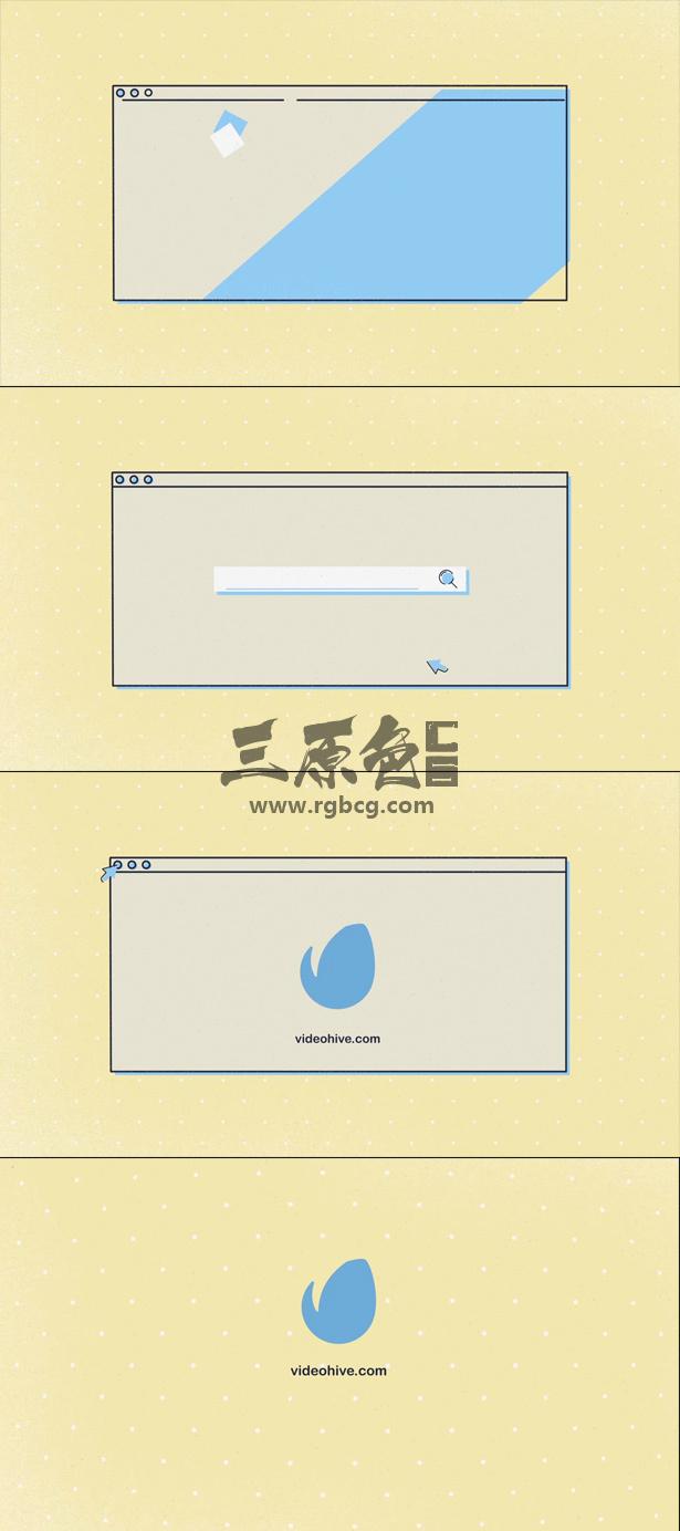 AE模板 网页搜索显示标志卡通动画 Videohive Search Logo Ae 模板-第1张