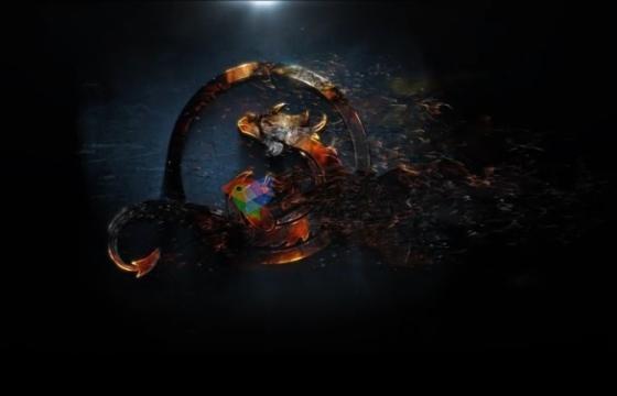 AE模板 标志Logo粒子消散特效片头 Shadow Dust Reveal