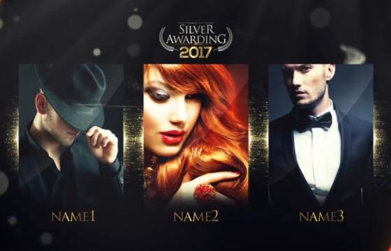 AE模板 大气银色颁奖典礼栏目包装片头 Silver Awarding Pack