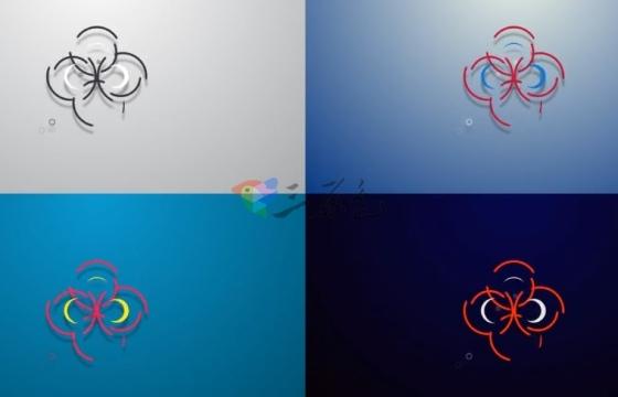 AE模板 简单的MG形状动画标志展示片头 Simple shapes logo reveal