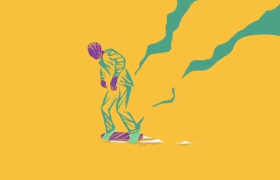 AE模板 抽象卡通溜冰滑板车运动动画开场片头介绍 Skater Intro
