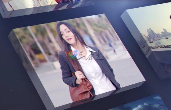 Ae模板 三维时尚视频墙片头Modern Portfolio