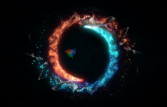 Ae模板 旋转粒子汇聚爆炸Logo动画Particular Logo