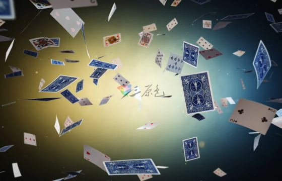 Ae模板 纸牌扑克飞舞Logo动画Flying Cards Logo Reveal