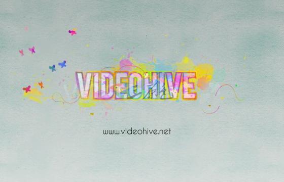 Ae模板 水彩泼撒Logo动画Logo Revealer Paint Drops Design