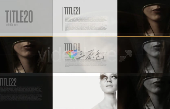 Ae模板 时尚图片网格栏目包装Broadcast Design
