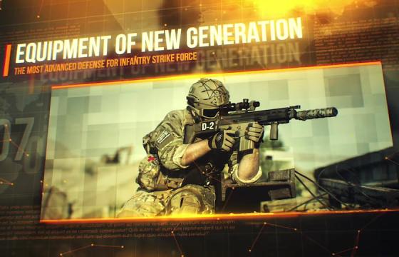 Ae模板 科技感军事图片开场Warfare Military Slideshow
