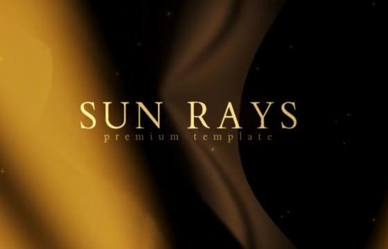 AE模板 大气恢弘的金色太阳光线 年会片头颁奖模板 Sun Rays